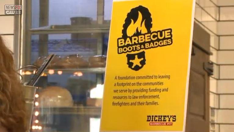 CW33: Dickey's Does Good - Restaurant Donates to Matt Pearce Fund