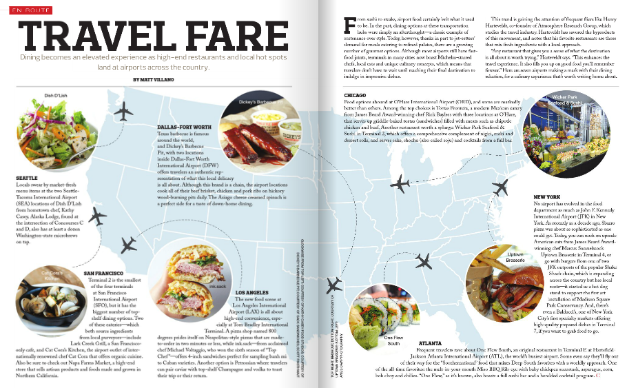 Bespoke Concierge: Travel Fare - Dining becomes and elevated experience as high-end restaurants and local hot spots land at airports across the country