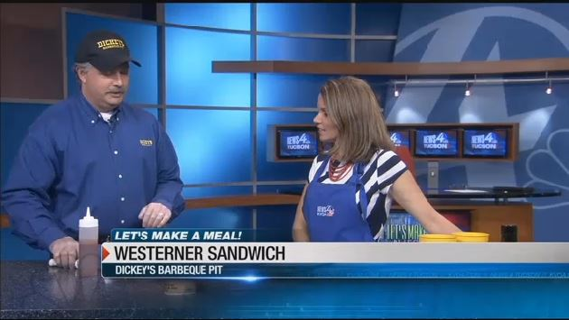 NBC 4 Tucson: Owner/Operator Dave Wirth demonstrates Dickey's Westerner Sandwich