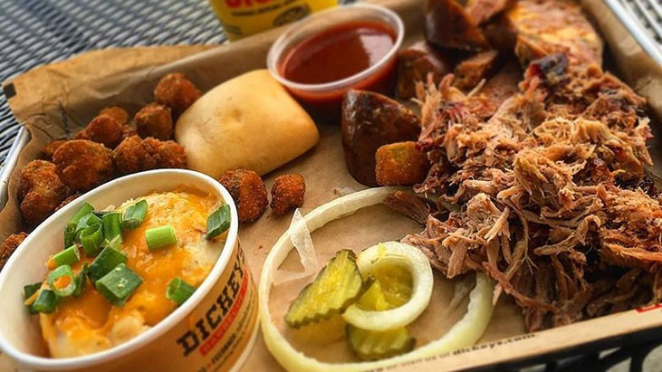 Restaurant Business: DICKEY'S LATEST: MORE THAN TAKEOUT, LESS THAN CATERING
