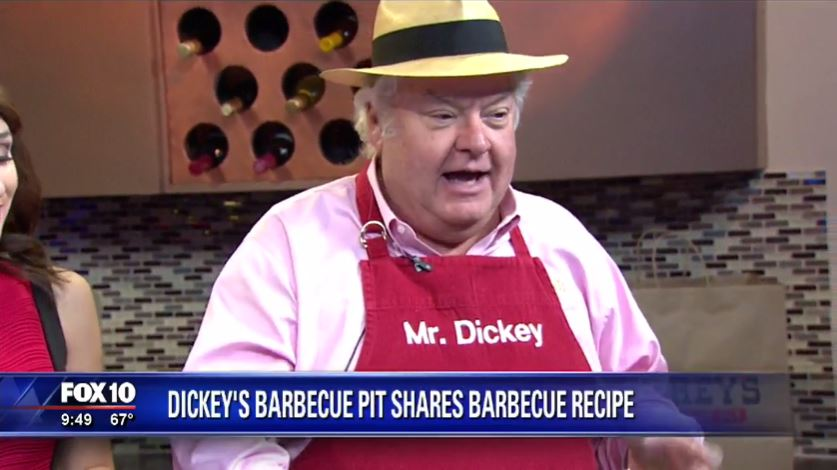 Mr. Dickey visits Phoenix's Fox 10 to share his famous brisket recipe