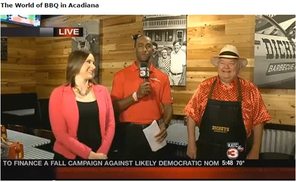 ABC 3 Lafayette: Mr. Dickey Visits 'Good Morning Acadiana' in Lafayette