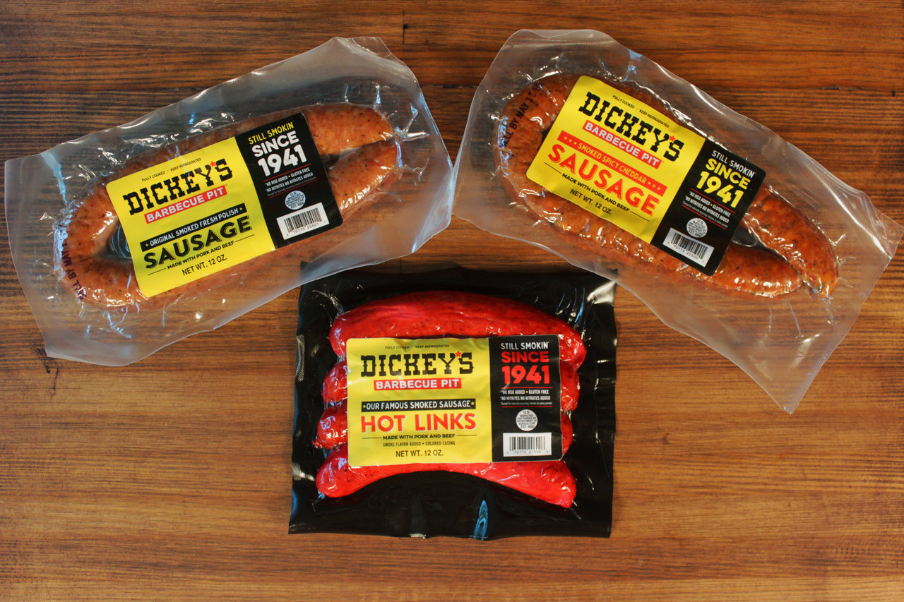 Refrigerated & Frozen Foods: Dickey's Barbecue Pit restaurant chain brings signature smoked sausages to Walmart